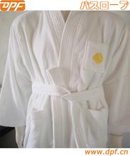 embroidered kimono cotton velour hotel bathrobe