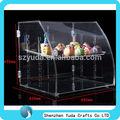 Acrílico biscoitos display case, Acrílico armário de exposição pão, Acrílico padaria display case