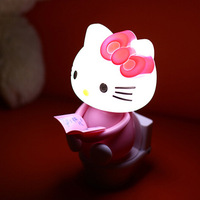 Shenzhen Factory Hello Kitty Novelty Colorful Rechargeable LED Night Lamp