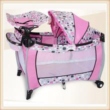 EN71 high quality swinging baby crib canopy crib multi-functional baby crib