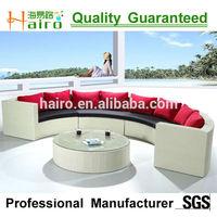 synthetic rattan sofa set / half round sofas/half moon sofa
