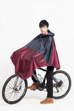 Good quality nylon rain poncho with PVC hood for biker