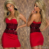 Europe Style Plus size 2015 New Arrival Fashion Lady Sexy Lace White Red Strapless Dress Party Dresses
