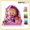 Masha y el Oso niño bolsa escolar de mallas, barato amable mochilas Saco con cordel