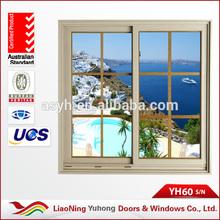 High quality YH 60series pvc sliding windows with grills design