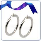 latest trends self piercing hoop big diamond stud bridal earrings
