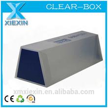folding printing pyramid clear plastic box
