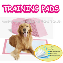 OEM 60*60cm absorbenct pink disposable puppy pee pad