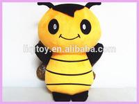Fancy lifelike stuffed soft plush toy honey bee