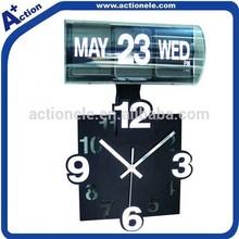 3D automatic wall calendar clock