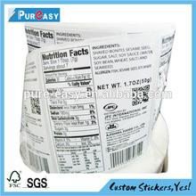 vinly label for product Description