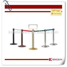 crowd control stanchion/retractable belt barrier stand/metal queue post
