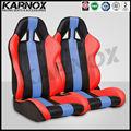 karnox kırmızı ve mavi mikro fiber deri otobüs için aksesuarlar