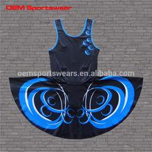 Digital printing sexy girls wear netball dresses