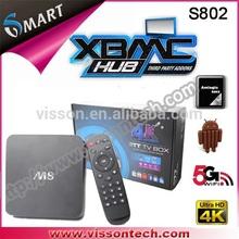 Vissontech 2014 new hot selling quad core M8 android tv box wholesale atv china