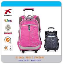 High school student 18'' Nylon detachable trolley school bags