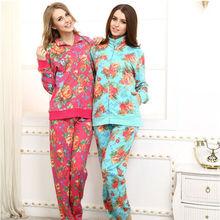 Womens fashion casual sportswear set custom French terry winter flower dyed design sportswear