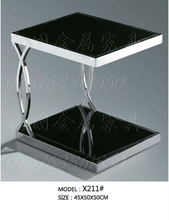 black tempered glass coffee table hotel furniture