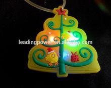 LED flashing christmas tree necklace pendant light up necklace