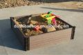 Wpc flor caja/flor de jardinería caja/madera de jardín de plástico caja de flores