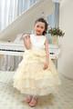venta al por mayor de china sin mangas maxi satinado vestido de novia vestido de novia para la niña