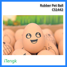 Rubber pet ball eggs expression