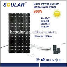 200w Popular Mono Solar Panel with High Efficiency