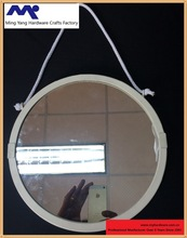 MYM-047 Round metal mirror with rope