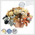 Eco- ambiente de venta más caliente felices los niños juguetes blandos de los animales dedo marioneta