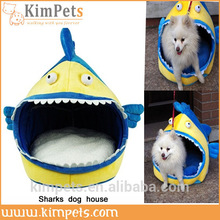 luxury cartoon big shark pet dog house