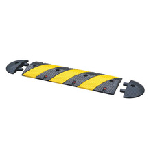 Black and Yellow 3 Foot Speed Bump Rubber Made Product