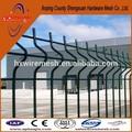Quadrados de malha de arame da cerca/aço da cerca com pós preços/quintal material metal soldada cerca de arame