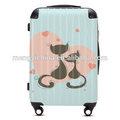 2014 quente moda para homens e mulheres o embarque da bagagem mala trolley cartoon casal espelho mala