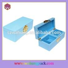 wooden jewelry box kits wholesale,locking wood jewelry box (WH-1948-1)