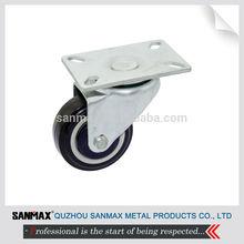 "Sanmax factory direct sale 3"" PU caster, castor wheel, swivel caster"