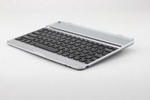 Silver+black Aluminum Bluetooth keyboard for ipad air