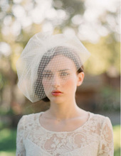 2015 Custom made exquisite one-layer mesh bridal veil,bridal accessories