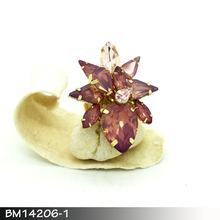 Best Design Artificial Transparent Resin Flower Rings Jewelry