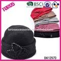 de alta calidad hechos a mano de invierno chica sombrero de fieltro de lana sombrero
