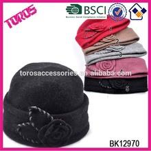 High Quality Hand Made Winter Hat Girl Wool Felt Hat