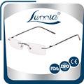 Mini pequeño marco sin montura de titanio gafas de lectura