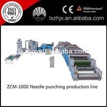 ZCM-1000 mattress needle punched wadding line/mattress needling production line