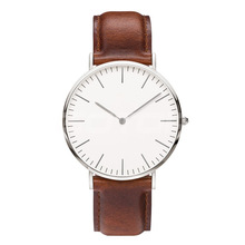 Custom Genuine Leather japan movement stainless steel case top brand watches men