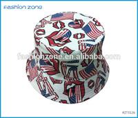 Buy fabric american flag bucket hat pattern