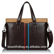 fashion designer Genuine leather tote bag for man