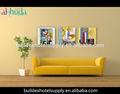 tríptico flor florero y pintura al óleo abstracta para sala de estar