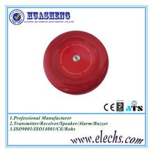 12V or 24v red color round fire alarm bell