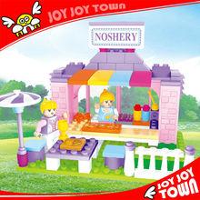 very little models enlighten brick 3d puzzle castle childrens plastic toys miniature doll house building bricks for girls E24410