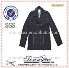 Sunnytex Best Selling wind proof Soft Shell Winter Black Wool Coat