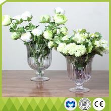 Antique mirror glass vase for flower arrangements